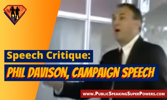Speech Critique: Phil Davison