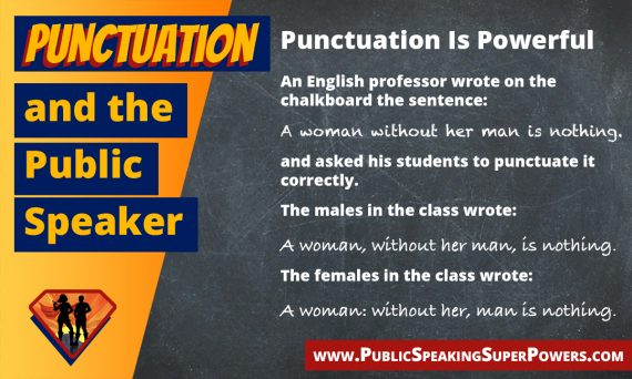 Punctuation and the Public Speaker