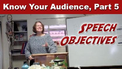 Speech Objectives