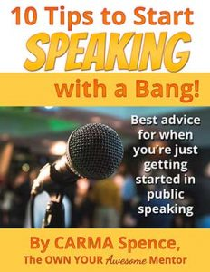 cover for 10 tips to start speaking with a bang