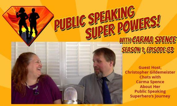 Episode 83 Guest Host Christopher Gildemeister interviews Carma Spence