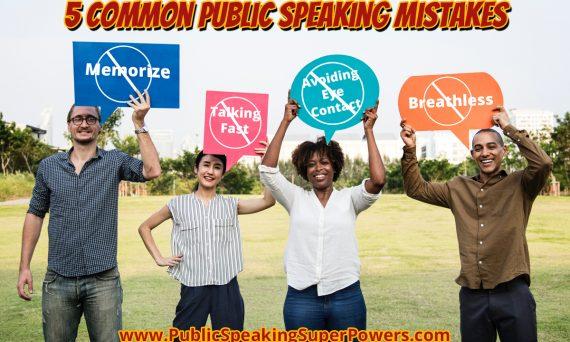 5 Common Public Speaking Mistakes