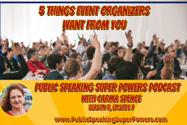 Podcast: 5 Things Event Organizers Want from You