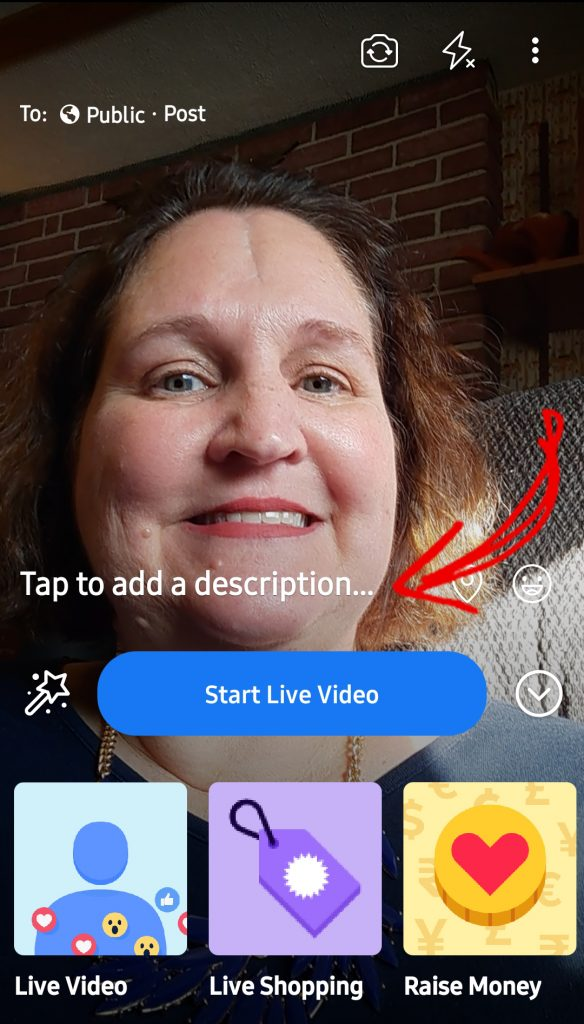 Starting a Facebook Live on a Phone